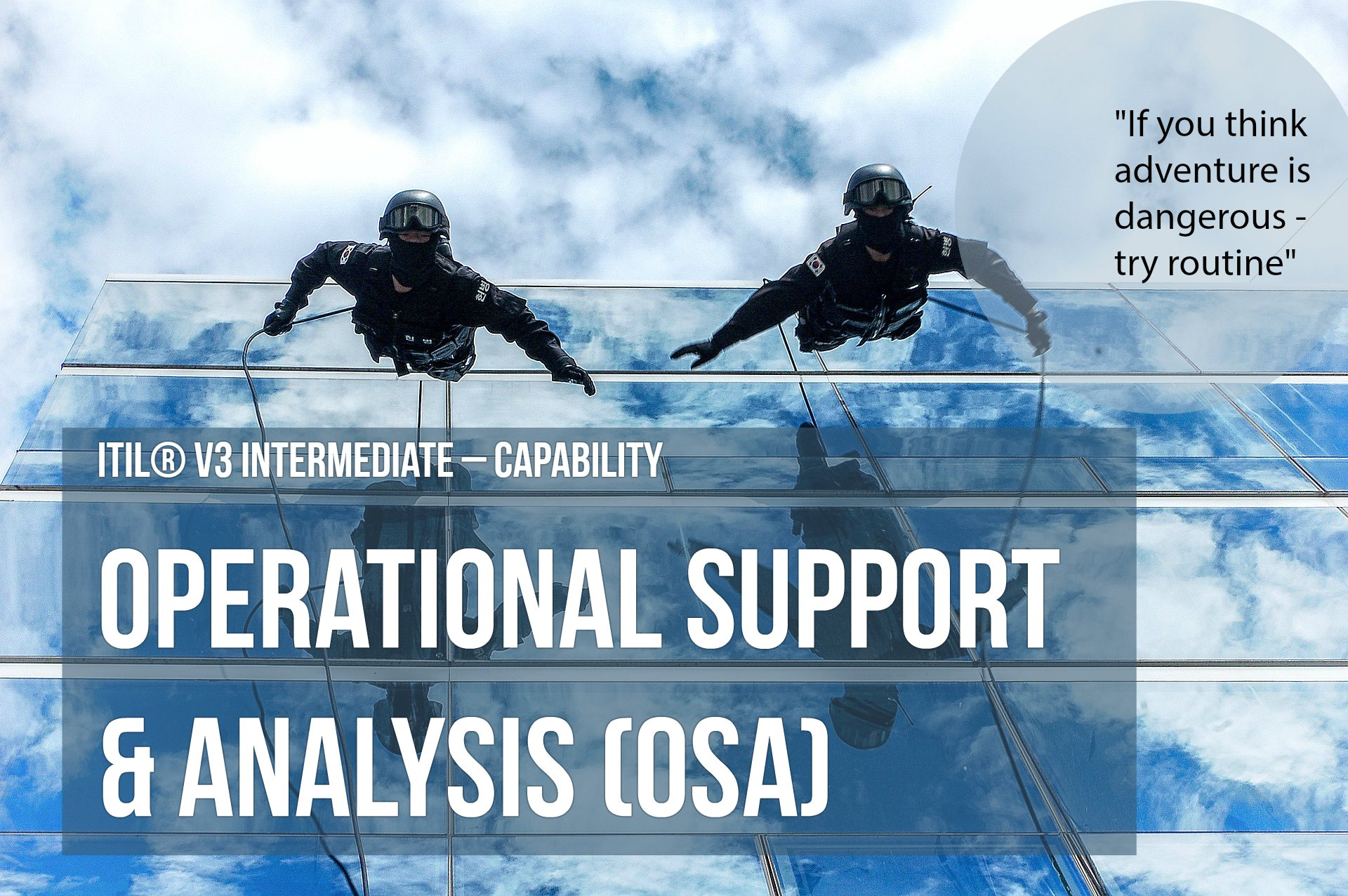 ITS Partner - Edukacija - ITIL® v3 Intermediate - Capability - Operational Support and Analysis (OSA)