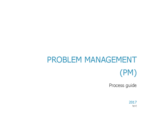 ITIL Problem Management Workflow – Process Guide