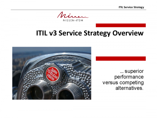 ITIL Service Strategy Overview
